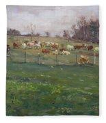 Cows In A Farm, Georgetown  Fleece Blanket