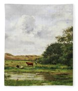 Cows In A Meadow Fleece Blanket