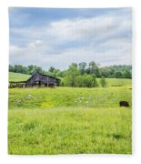 Cows In The Country Fleece Blanket