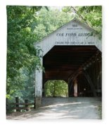 Cox Ford Bridge Fleece Blanket