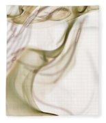 Coy Lady In Hat Swirls Fleece Blanket
