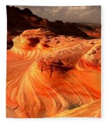 Coyote Buttes Rainbow Dragon Fleece Blanket
