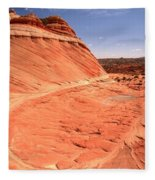 Coyote Buttes Swirling Sandstone Fleece Blanket