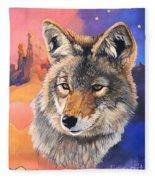 Coyote The Trickster Fleece Blanket
