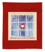 Cozy Christmas Card Fleece Blanket