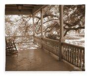 Cozy Southern Porch Fleece Blanket