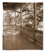 Cozy Southern Porch Fleece Blanket