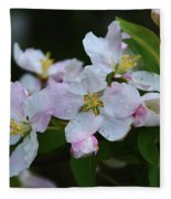Crab Apple Blossoms  Fleece Blanket