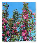 Crab Apple Blossoms Fleece Blanket