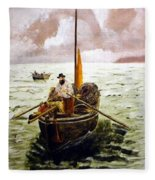 Crab Fisherman Fleece Blanket