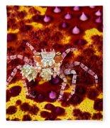 Crab Underwater Fleece Blanket