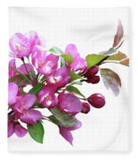 Crabapple Blossoms Fleece Blanket