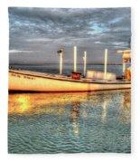 Crabbing Boat Beth Amy - Smith Island, Maryland Fleece Blanket