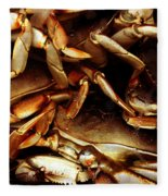 Crabs Awaiting Their Fate Fleece Blanket