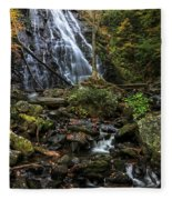Crabtree Falls In Autumn Fleece Blanket