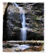 Crabtree Falls In Fall Fleece Blanket