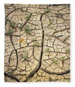 317805-cracked Mud Patterns  Fleece Blanket