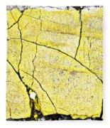 Cracked Yellow Paint Fleece Blanket