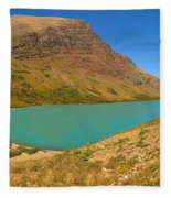 Cracker Lake Many Glacier Panorama Fleece Blanket