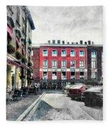 Cracow Art 4 Kazimierz Fleece Blanket