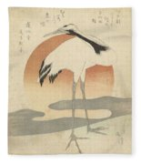 Crane For The First Sunrise Of The Year, Totoya Hokkei, C. 1821 Fleece Blanket