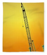Crane With Towers Fleece Blanket