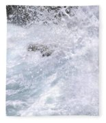 Crashing Against Lava Rocks Fleece Blanket