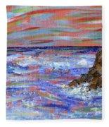 Crashing Of The Waves Fleece Blanket