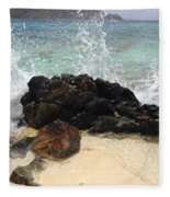 Crashing Waves At Sugar Beach Fleece Blanket