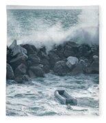Crashing Waves Fleece Blanket