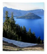 Crater Lake 12 Fleece Blanket