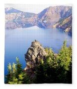 Crater Lake 4 Fleece Blanket
