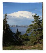 Crater Lake 8 Fleece Blanket