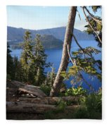 Crater Lake 9 Fleece Blanket