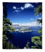 Crater Lake Fleece Blanket