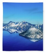 Crater Lake Blue Fleece Blanket