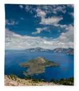 Crater Lake From Watchman Overlook Fleece Blanket