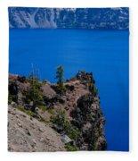 Crater Lake Point Overlook Fleece Blanket