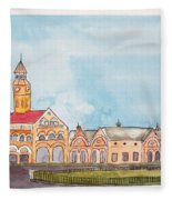 Crawford Market Mumbai Fleece Blanket