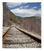 Crawford Notch State Park - Maine Central Railroad Fleece Blanket