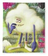 Crazy Cloud Guy. Fleece Blanket