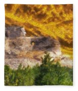 Crazy Horse Monument Pa Fleece Blanket