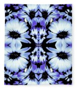 Crazy Lavender Daises Fleece Blanket