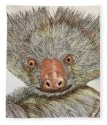 Crazy Two Toed Sloth Fleece Blanket