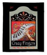 Crazyfingers_frame1 Fleece Blanket