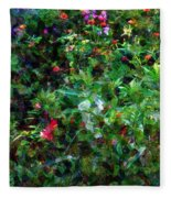 Crazyquilt Garden Fleece Blanket