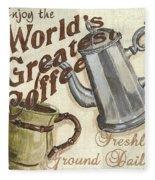 Cream Coffee 1 Fleece Blanket
