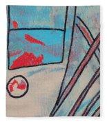 Cream Colored Door Fleece Blanket
