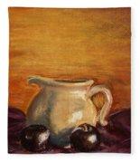 Cream Pitcher Fleece Blanket