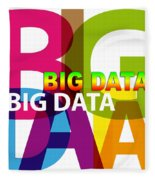 Creative Title - Big Data Fleece Blanket